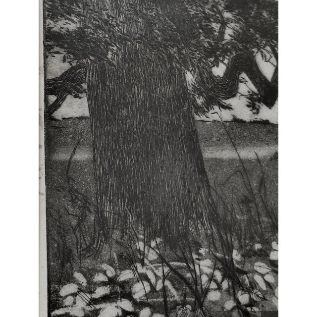 Black/White Print by Ann Usborne Signed Autumn Night For Sale - Image 4 of 10