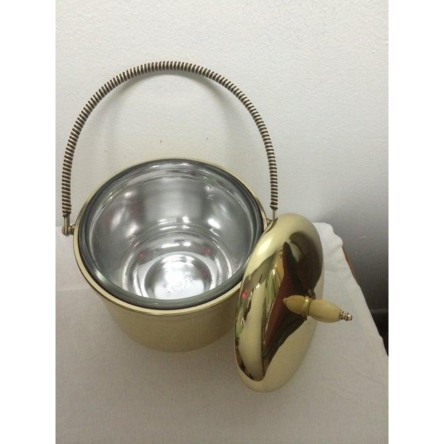 Mercury Glass Brass Ice Bucket For Sale - Image 5 of 5