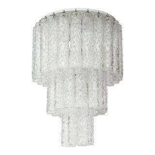 Murano Glass Tube Chandelier For Sale