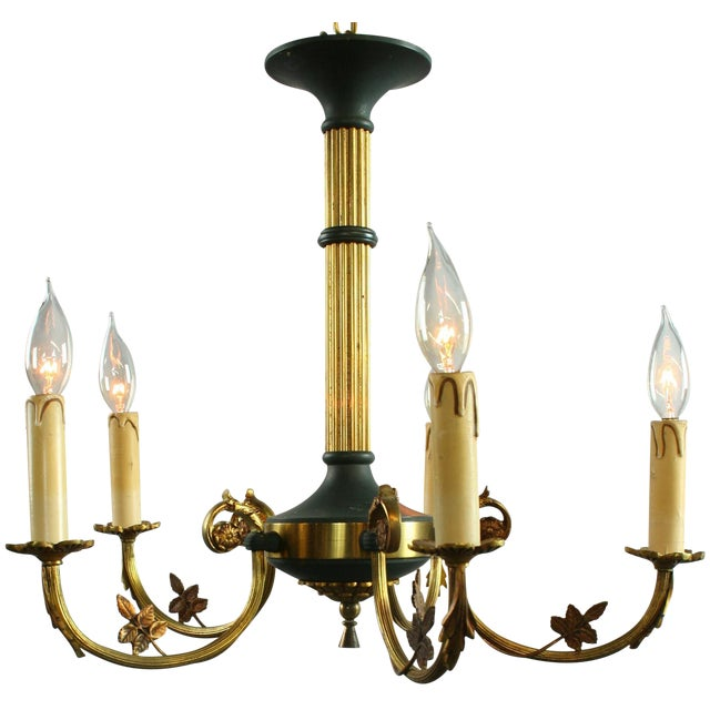 Vintage French Empire Chandelier Circa 1950 - Image 1 of 8