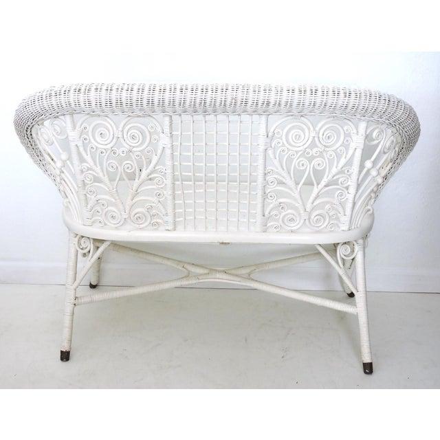 Heywood Wakefield Wicker Two Seat Settee/Love Seat - Image 4 of 8