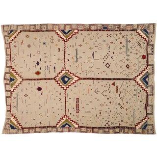 Vintage Berber Moroccan Flat-Weave Kilim Glaoui Rug - 12'10 X 17'08 For Sale