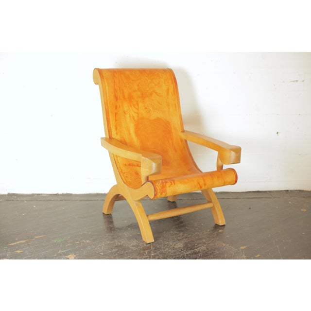 (This listing is for the chair on the right in the main image, the left one has sold.) Beautifully aged cypress and...