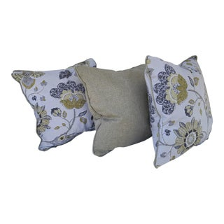 Floral Accent Pillows - Set of 3
