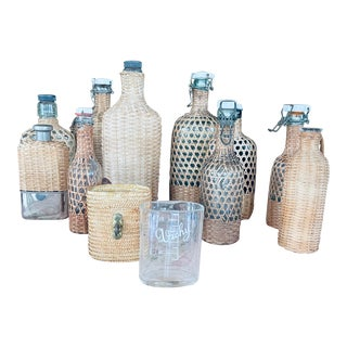 19th Century French Century Demijohn Bottle Collection - Set of 11 For Sale