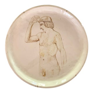 Vintage Greco-Roman Style Figurative Plate Wall Art For Sale