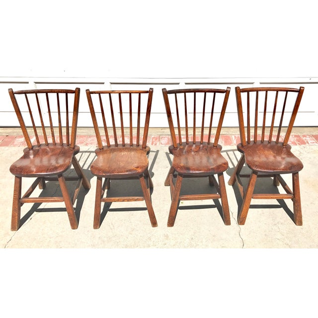 Early 1900's Wood Chairs - Set of 4 - Image 2 of 4