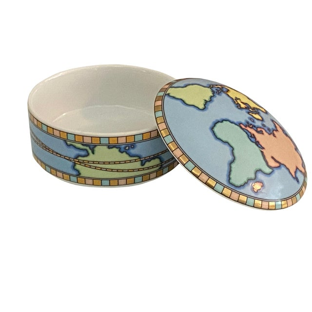 Mid 20th Century Mid Century Tiffany Round World Box For Sale - Image 5 of 8