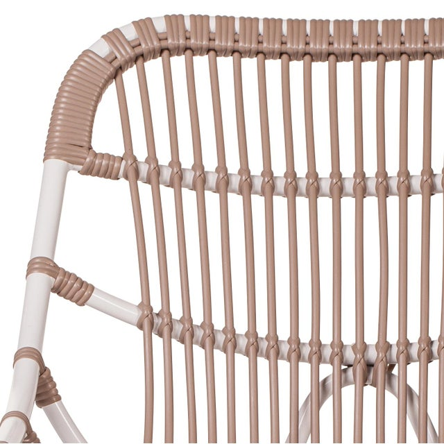 Stylish and functional these chairs are made of weather resistent woven fiber over strong temputure tolerant aluminum...