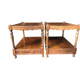 1960s Neoclassical Henredon Side Tables- a Pair For Sale