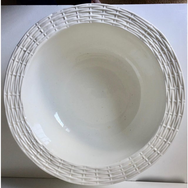 Neuwirth Italian Ceramic Basketweave Serving Bowl For Sale - Image 9 of 10