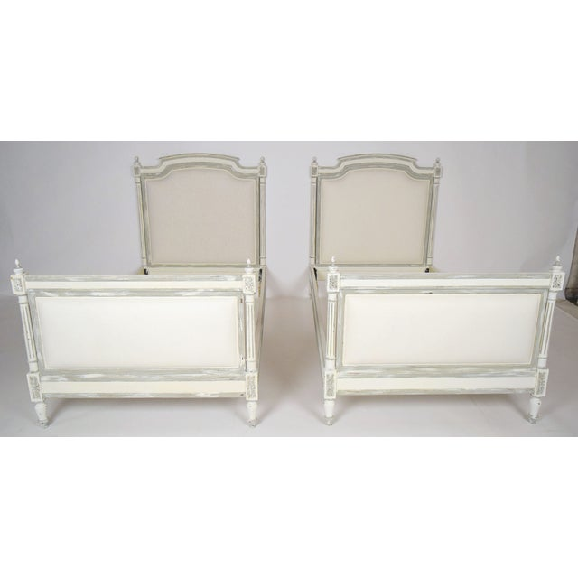 1800s French Louis XVI Extra Twin Beds - Pair - Image 2 of 8
