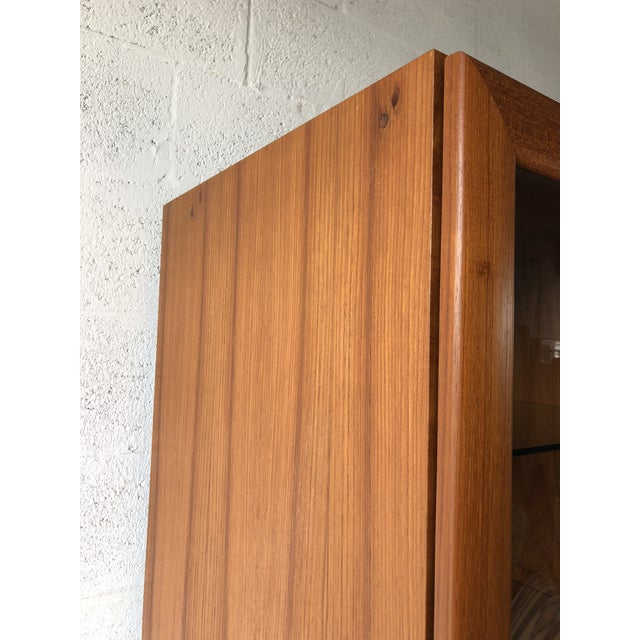 Vintage Mid Century Modern Danish Style Curio Display Cabinet. For Sale In Miami - Image 6 of 13