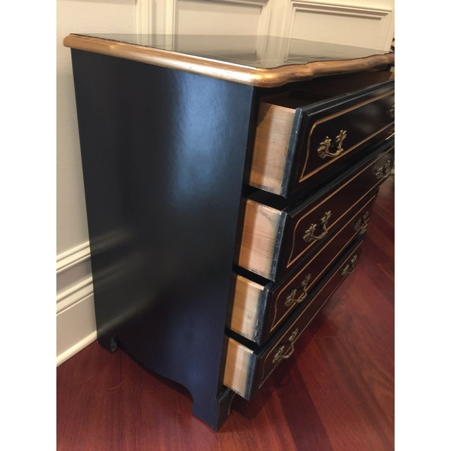 Lacquer 1960s Hollywood Regency Black Lacquer Chest For Sale - Image 7 of 11