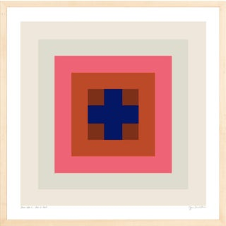 """""""Power Color 1: Love Is Real (Ivory to Blue)"""" Contemporary Geometric by Jessica Poundstone, Framed For Sale"""