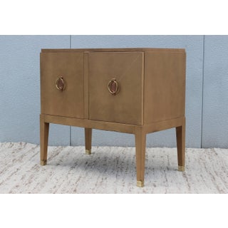 1940s French Leather Cabinet Preview