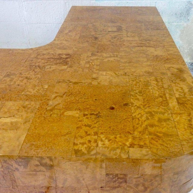 Directional Paul Evans for Directional Burl Top City Scape Desk For Sale - Image 4 of 9
