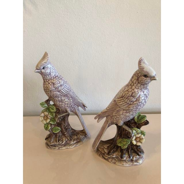 Italian Ceramic Palm Beach Cockatoo Birds - a Pair For Sale - Image 9 of 11