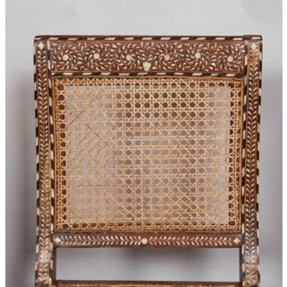 Armless Bone Inlaid Chair From India, Late 20th Century Preview