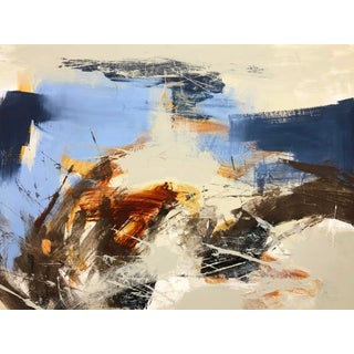 Abstract Acrylic Painting by Mirtha Moreno For Sale