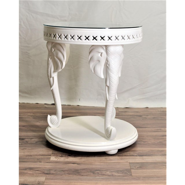 Carved Elephant Side Table - Image 7 of 7