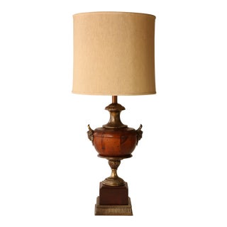 Frederick Cooper Wooden Urn Trophy Lamp For Sale