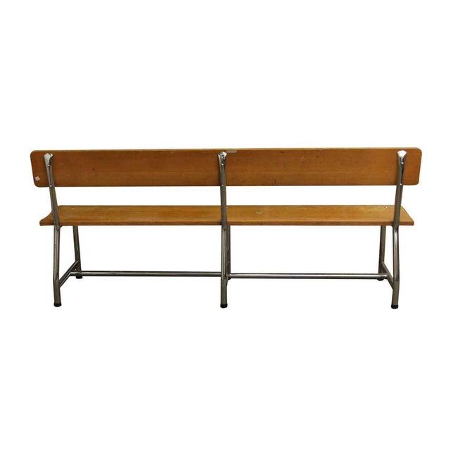 Auditorium Wood & Chrome Bench - Image 4 of 5