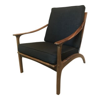 Mid Century Modern Black Lounge Chair For Sale