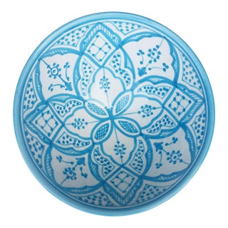 Safi Serving Bowl, Turquoise For Sale