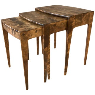 Heywood-Wakefield Maple Nesting Tables - Set of 3