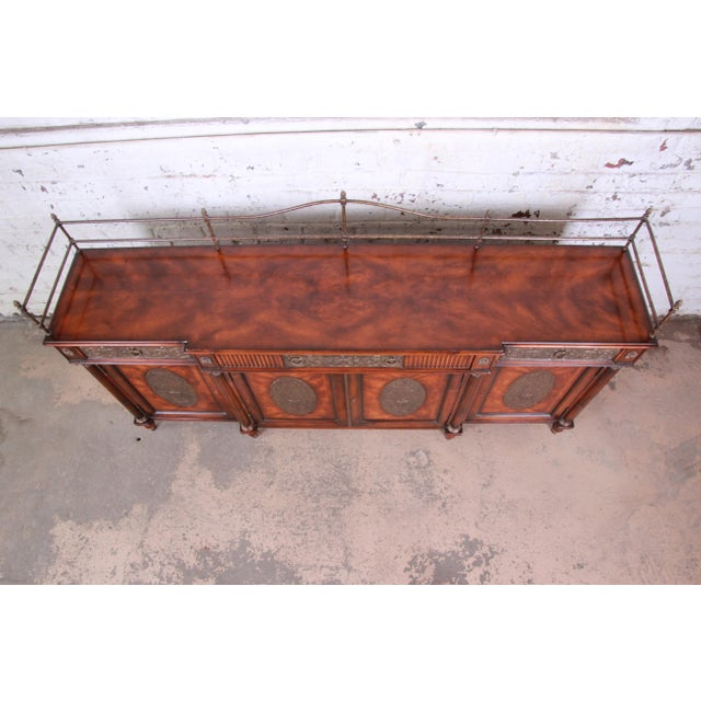 Theodore Alexander Regency Style Flame Mahogany Sideboard or Bar Cabinet For Sale In South Bend - Image 6 of 13