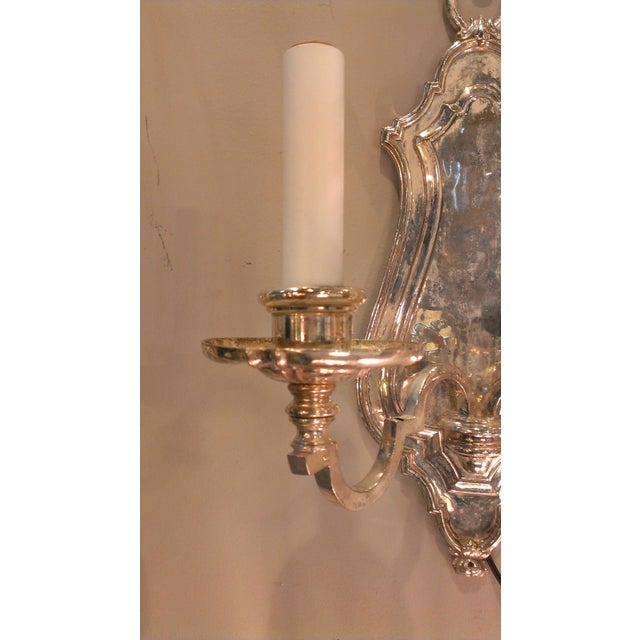 Early 20th Century Edward F. Caldwell Silver Plated Wall Sconces - A Pair - Image 5 of 11