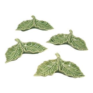 Bordallo Pinheiro Leaf Dishes - Made in Portugal - Set of 4 For Sale