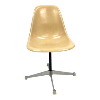 Cream Colored Charles & Ray Eames Fiberglass Side Shell For Sale