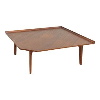 Finn Juhl for John Stuart France and Sons Danish Modern Teak Square Coffee Table For Sale
