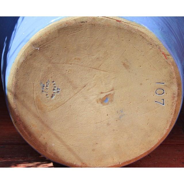 Ceramic Huge Pickrull Zanesville Norwalk Pot Shop Urn Pottery Arts & Crafts Floor Vase For Sale - Image 7 of 12