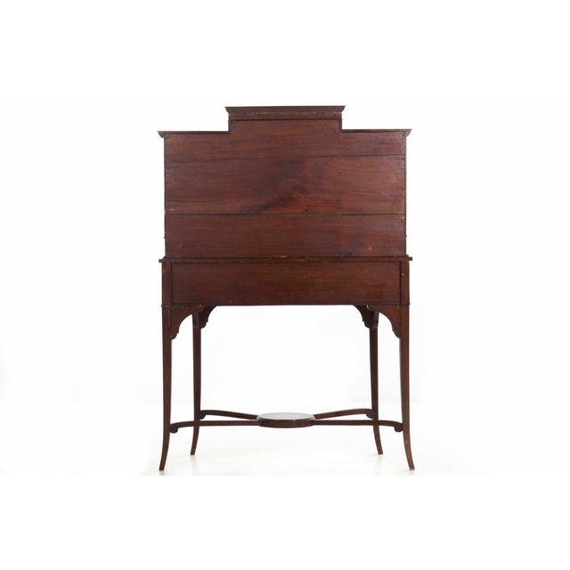 Edwardian Edwardian Classical Painted Antique Console Cabinet Circa 1860-80 For Sale - Image 3 of 13