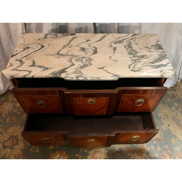 Wood Italian 19th Century Two Drawer Commode For Sale - Image 7 of 8