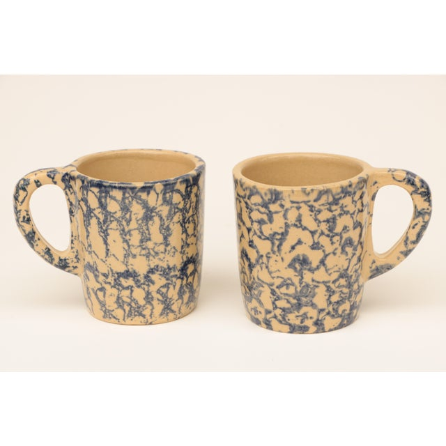 Late 20th Century Blue Spongeware Pottery Instant Collection - Set of 11 For Sale - Image 5 of 8