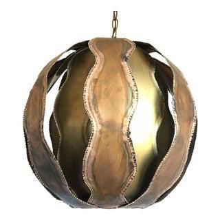 1970s Feldman Globe Pendant Light For Sale