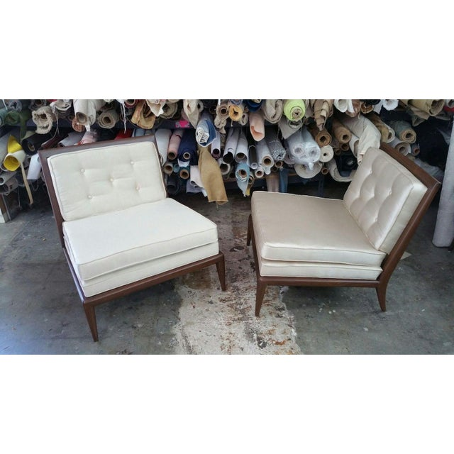 1950s Mid Century Modern Slipper Chairs - a Pair For Sale In Miami - Image 6 of 8