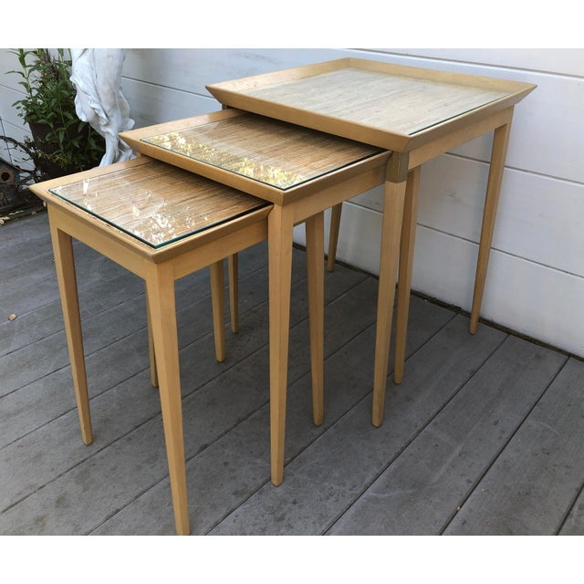 Mid 20th Century 1950s Robsjohn-Gibbings for Widdicomb Stacking Side Tables - Set of 3 For Sale - Image 5 of 12