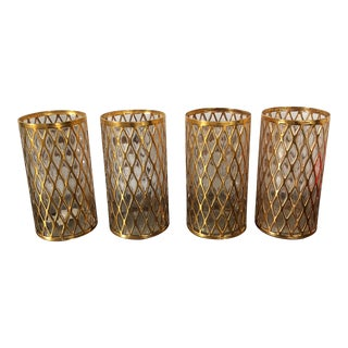 Sekai Ichi 24k Gold Glasses - Set of 4 For Sale