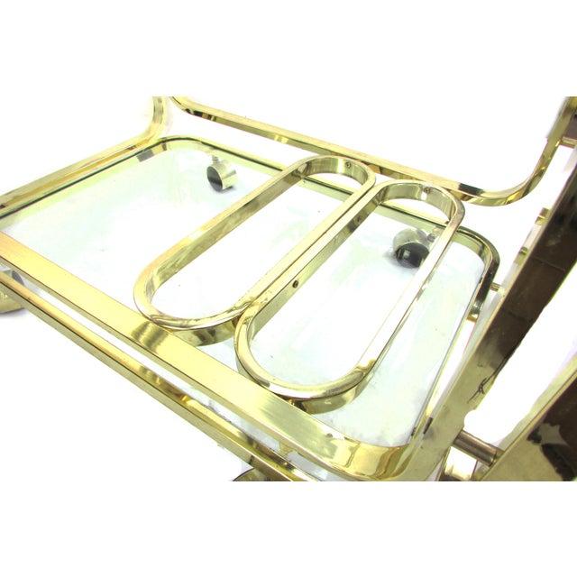 Milo Baughman Brass Bar Cart - Image 7 of 7