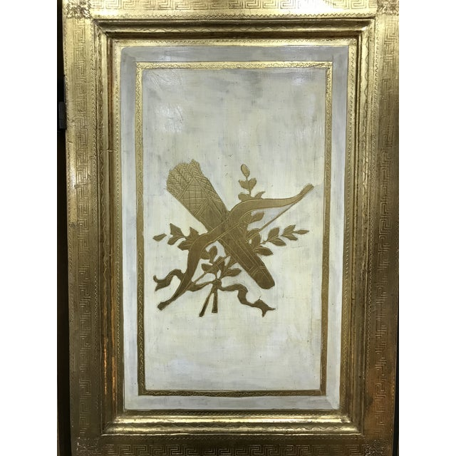 Gold 20th Century Italian Giltwood Florentine Room Divided Screen Hollywood Regency For Sale - Image 8 of 13