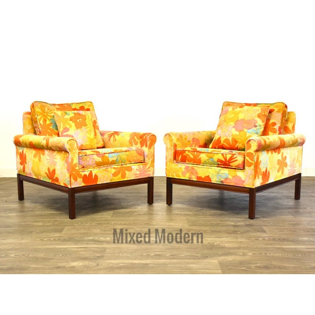 Mid Century Walnut Lounge Chairs - a Pair For Sale - Image 9 of 9