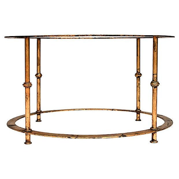 Gilded Bamboo-Style Coffee Table - Image 5 of 8