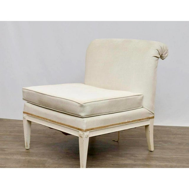 Hollywood Regency Slipper Chair For Sale - Image 4 of 4
