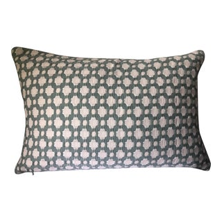 Custom Lumbar Pillow Cover in Schumacher Fabric For Sale