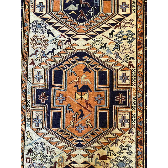 Islamic Ardibal, Iran. Long 1970s Vintage Hand-Knotted Persian Runner (2′6″ × 9′8″) For Sale - Image 3 of 7